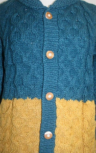 Dual Color Wool Sherpa Cardigan - Petite - Agan Traders