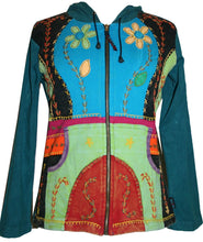 Colorful Peace Sun Star Patch Bohemian Hoodie Jacket - Agan Traders
