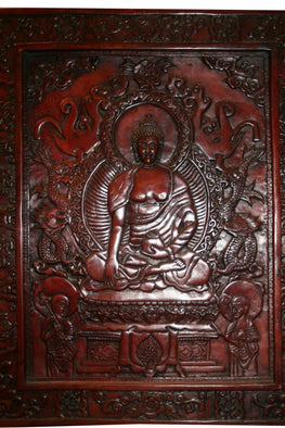 Resin Meditating Buddha Plaque - Agan Traders