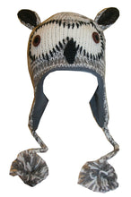2-Ply Wool Adult Animal Hat - Agan Traders, Owl Grey