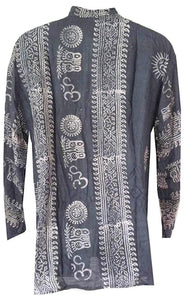 Goddess Script Printed Yoga Tunic Rayon Shirt - Agan Traders, Black