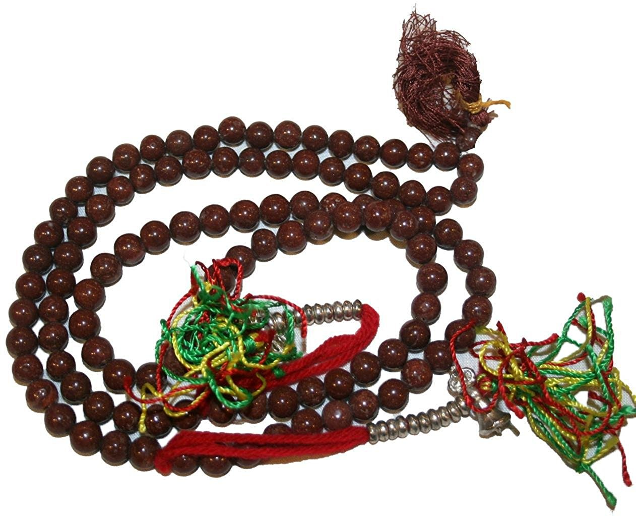 Agan Traders Original Tibetan Buddhist 108 Beads Prayer Meditation Mala - Agan Traders, BrownJade 7mm