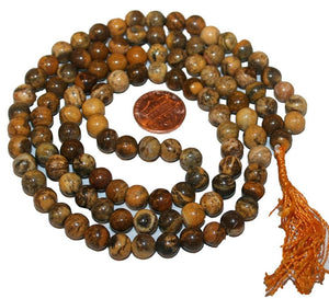 Agan Traders Original Tibetan Buddhist 108 Beads Prayer Meditation Mala - Agan Traders, Aventurine