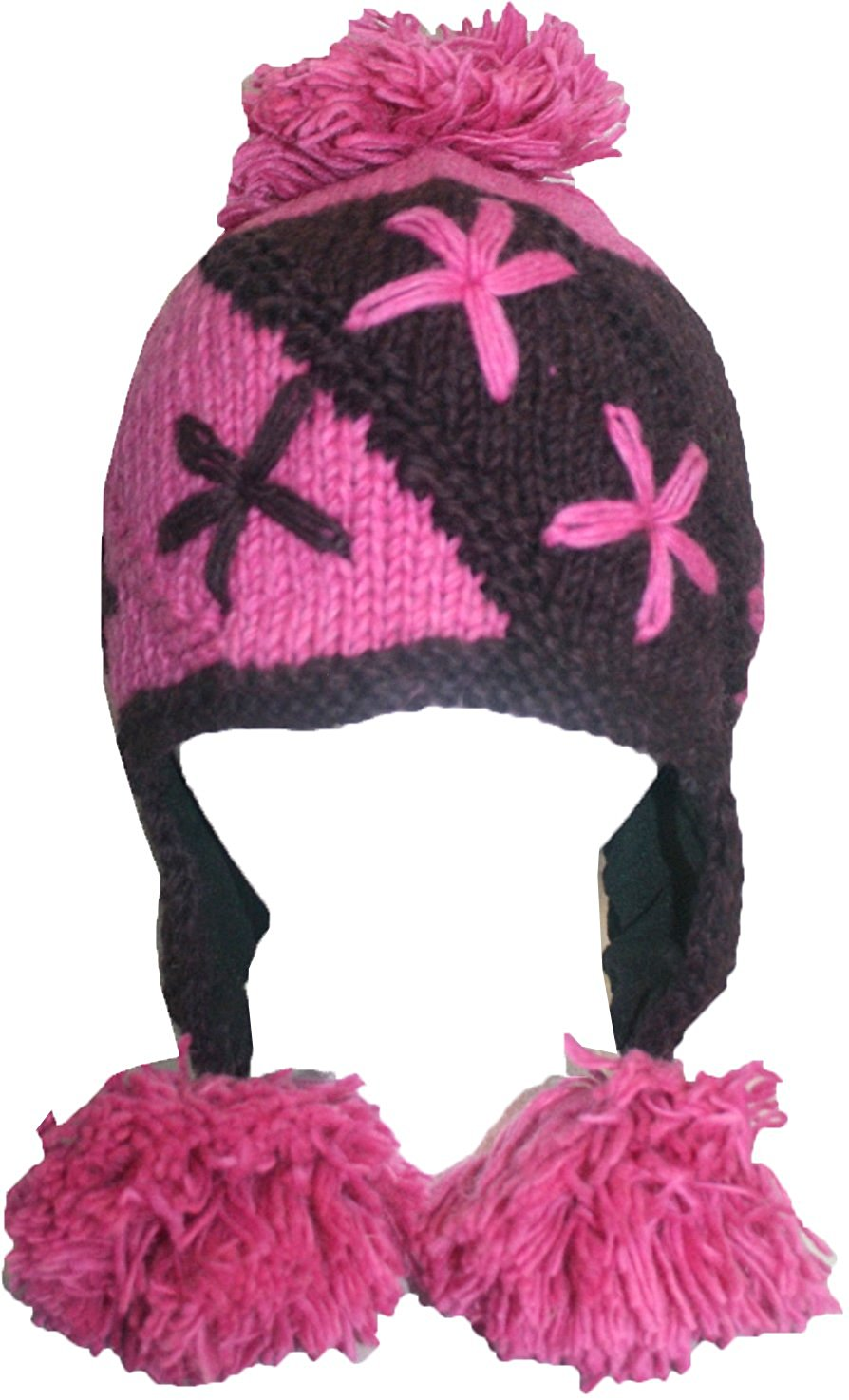 Highland Wool Knit Beanie Fleece Earflap Beanies - Agan Traders, 1410 BP H