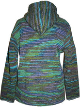 Lambs Wool Fleece Winter Sherpa Hoodie Sweater Jacket - Agan Traders, WJ 10 Green Multi