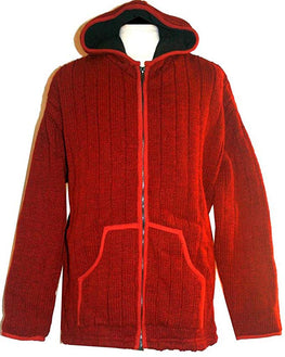 914 WJ Mens Wool Heavy Lined Hand Knitted Sherpa Wool Jacket