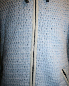 Lamb's Wool Hand Knitted Fleece Lined Sherpa Jacket Sweater - Agan Traders