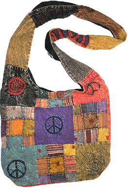 Patch Multi-colored Cotton Bohemian Gypsy Bag Purse - Agan Traders, Multi 4