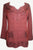 Diamond Neck Renaissance Embroidered Blouse - Agan Traders, BG Wine