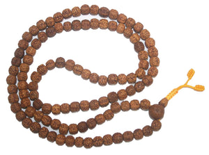 10 mm Rudraksha Buddhist Beads Meditation Mala - Agan Traders, RK 8mm