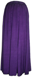 712 SK Agan Traders Medieval Embroidered Long Skirt - Agan Traders, Purple
