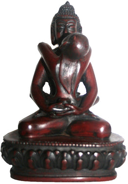 Resin Samantabhadra Statue (4.5 X 3.5 inches) - Agan Traders