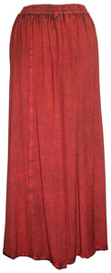 712 SK Agan Traders Medieval Embroidered Long Skirt - Agan Traders, B. Red