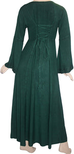 Net Medieval Vampire Gothic Renaissance Dress Gown - Agan Traders, H Green