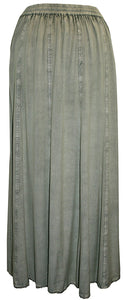 712 SK Agan Traders Medieval Embroidered Long Skirt - Agan Traders, Sea  Green C