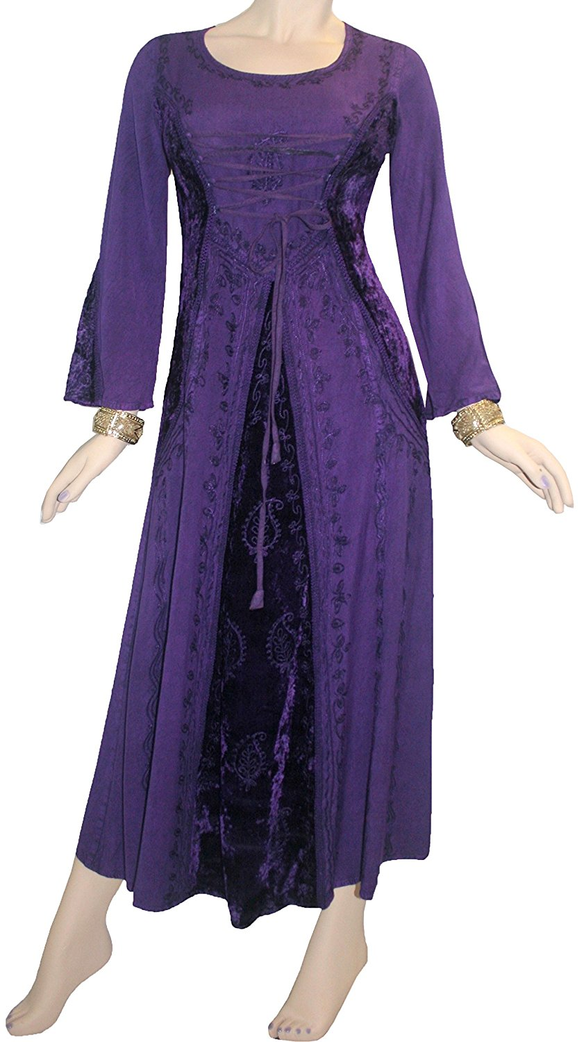 204 DR Scooped Neck Bohemian Corset Long Dress Gown – Agan Traders