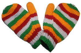 Ski Winter Lined Wool Mitten - Agan Traders, Red Green 2