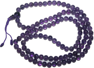 Agan Traders Original Tibetan Buddhist 108 Beads Prayer Meditation Mala - Agan Traders, Amethyst