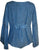 Flower Embroidered Blouse - Agan Traders, Blue