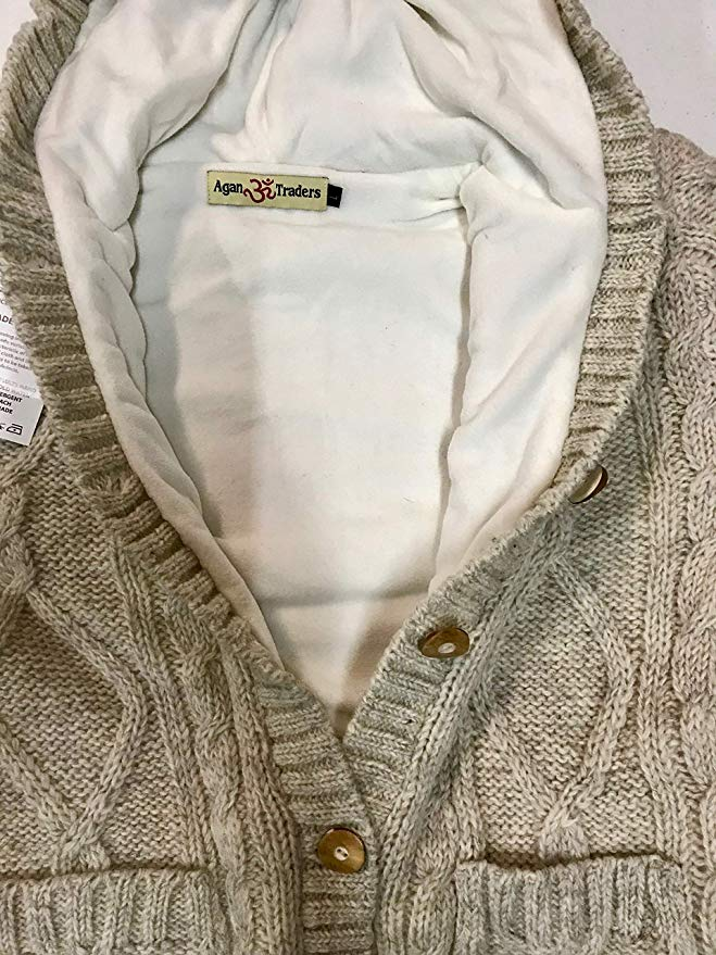 WV 29 Women's Nepal Long Cable Cardigan Sweater - Agan Traders, Oatmeal