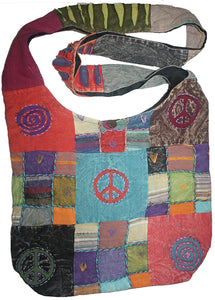 Patch Multi-colored Cotton Bohemian Gypsy Bag Purse - Agan Traders, Multi 5