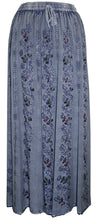 712 SK Agan Traders Medieval Embroidered Long Skirt - Agan Traders, Lilac Blue C