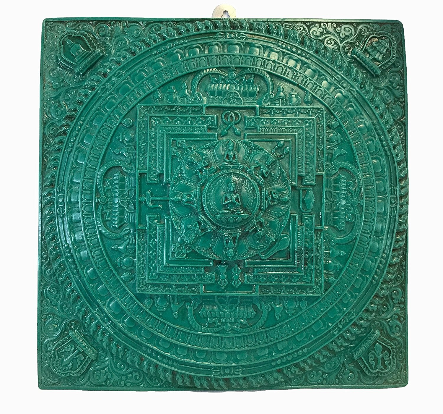 Mandala Decorative Plaque Wall Decor Art Sculpture From Himalaya - Agan Traders, Turquoise
