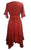 186014 DR Bohemian Asymmetrical Hem Ruffle Embroidered Casual Chic Dress - Agan Traders, B Red
