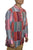Cotton Patchwork Mandarin Style Light Weight Tunic Shirt Nepal - Agan Traders, Maroon Multi