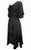 186014 DR Bohemian Asymmetrical Hem Ruffle Embroidered Casual Chic Dress - Agan Traders, Black