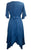 186014 DR Bohemian Asymmetrical Hem Ruffle Embroidered Casual Chic Dress - Agan Traders, Blue