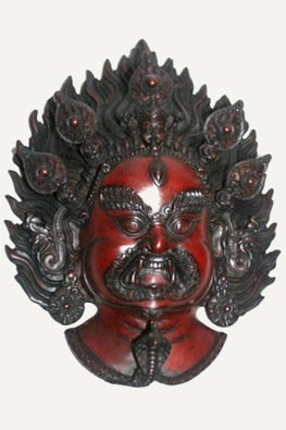 Traditional Hindu Goddess Bhairav Resin Mask Wall Hangings Art Statue - Agan Traders, Bhairav