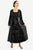 Renaissance Gothic Roman Medieval Velvet Long Dress Gown - Agan Traders, Black