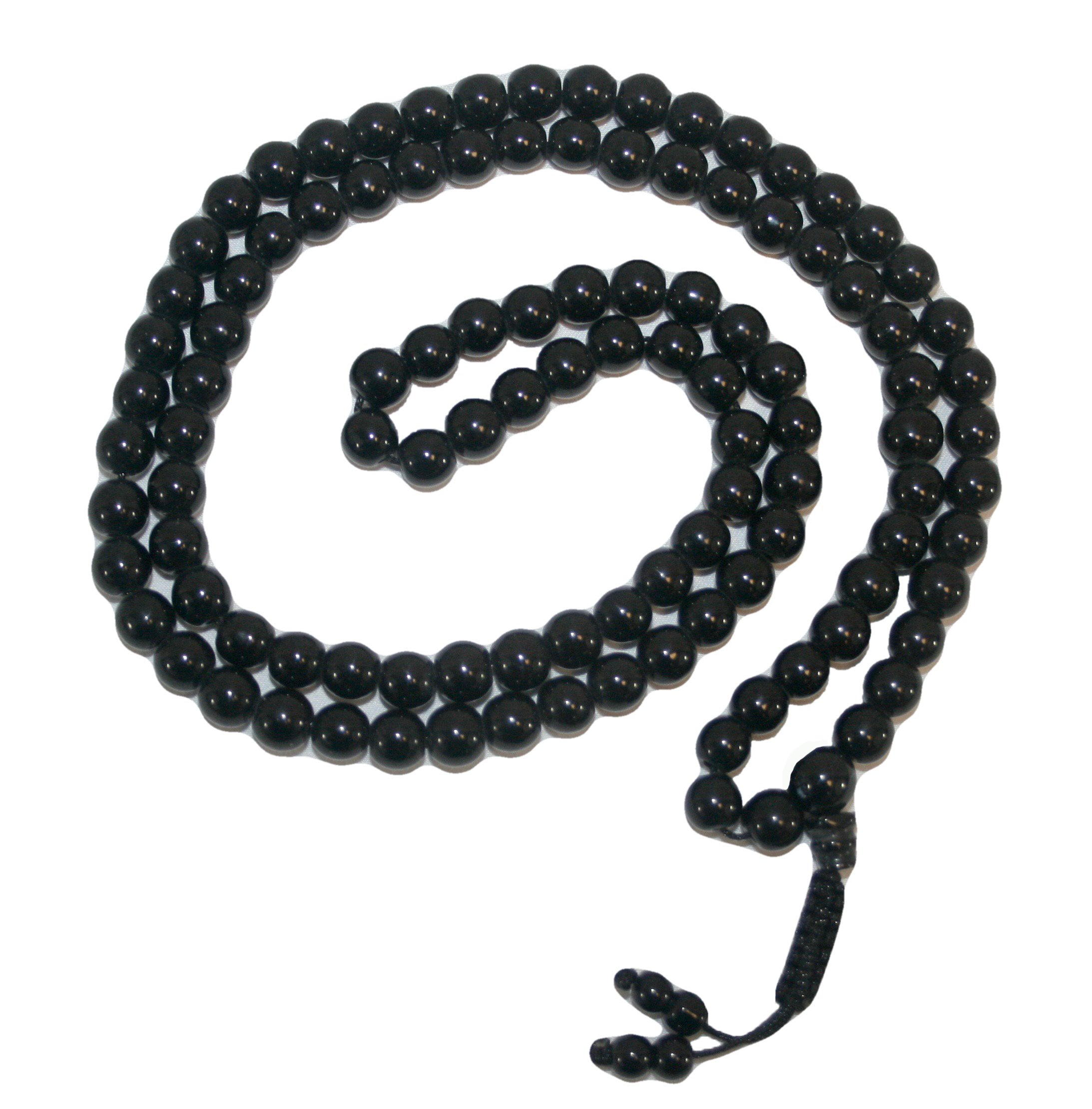 Agan Traders Original Tibetan Buddhist 108 Beads Prayer Meditation Mala - Agan Traders, Black Onyx