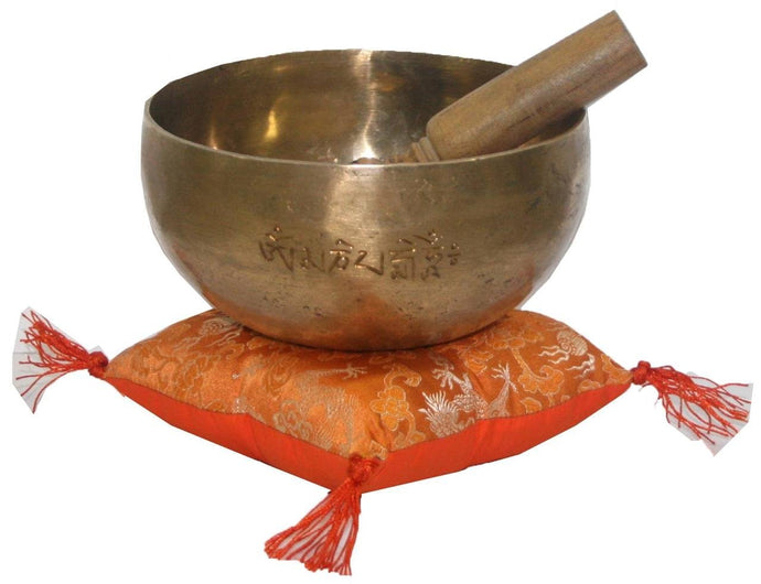 Hand Pounded 'G' Throat Chakra Singing Bowl - Agan Traders