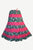 Tiered Cotton Gypsy Renaissance Vintage Short Skirt - Agan Traders, Pink / Black