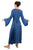 Medieval Corset Satin Embroidered Bell Sleeve Dress - Agan Traders, Blue