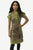 484 RD Knit Soft Cotton V neck Printed Baby Doll Junior Missy Dress