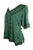 Gypsy Medieval Scoop Neck Embroidered Top Blouse - Agan Traders, E Green