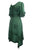 186014 DR Bohemian Asymmetrical Hem Ruffle Embroidered Casual Chic Dress - Agan Traders, E Green