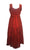 Empire Wedding Party Summer Mid Length Calf Dress - Agan Traders, Burgundy