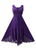 Empire Wedding Party Summer Mid Length Calf Dress - Agan Traders, Purple
