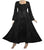 003 DR Square Neck Lace Overlay Gothic Corset Bell Sleeve Dress Gown - Agan Traders