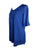 27710 B Medieval Embroidered Round Neck Short Sleeve Tunic Blouse - Agan Traders, Blue
