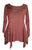303 NB Bohemian Asymmetrical Blouse Tunic - Agan Traders, Burgundy