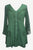 18607 B Medieval Gothic Embroidered Button Down Sheer Lace Sleeve Top Blouse - Agan Traders, E Green