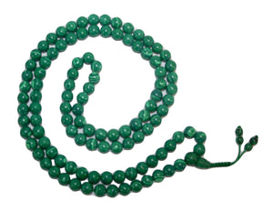 Agan Traders Original Tibetan Buddhist 108 Beads Prayer Meditation Mala - Agan Traders, Malachite