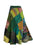 WS 411 Women's Hippie Long Wrap Patch Cotton Boho Renaissance Skirt Maxi - Agan Traders, Green