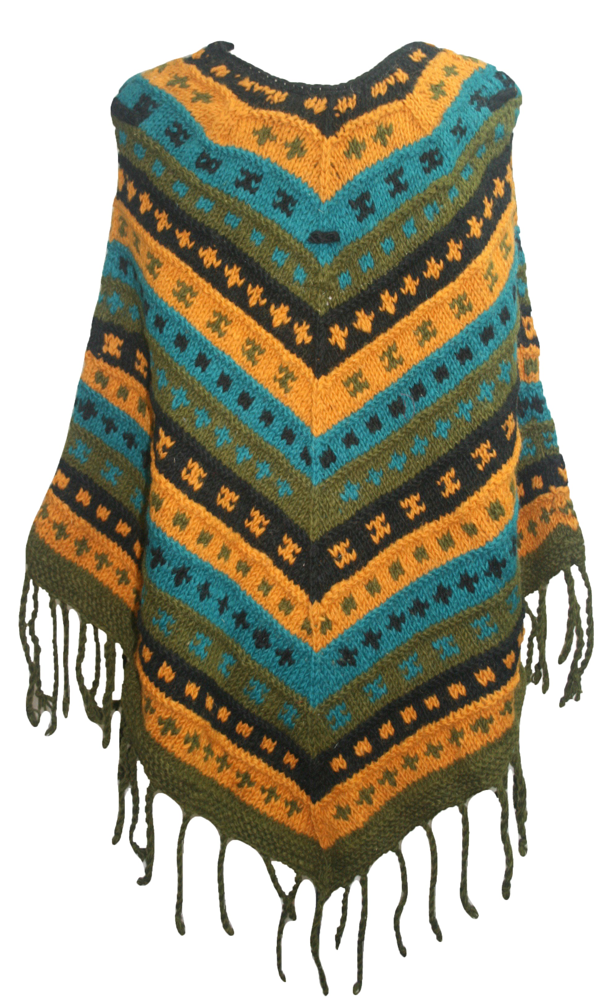 PN 200 Himalayan Thick Sheep Wool Hand Knitted Poncho - Agan Traders, PN 200 10