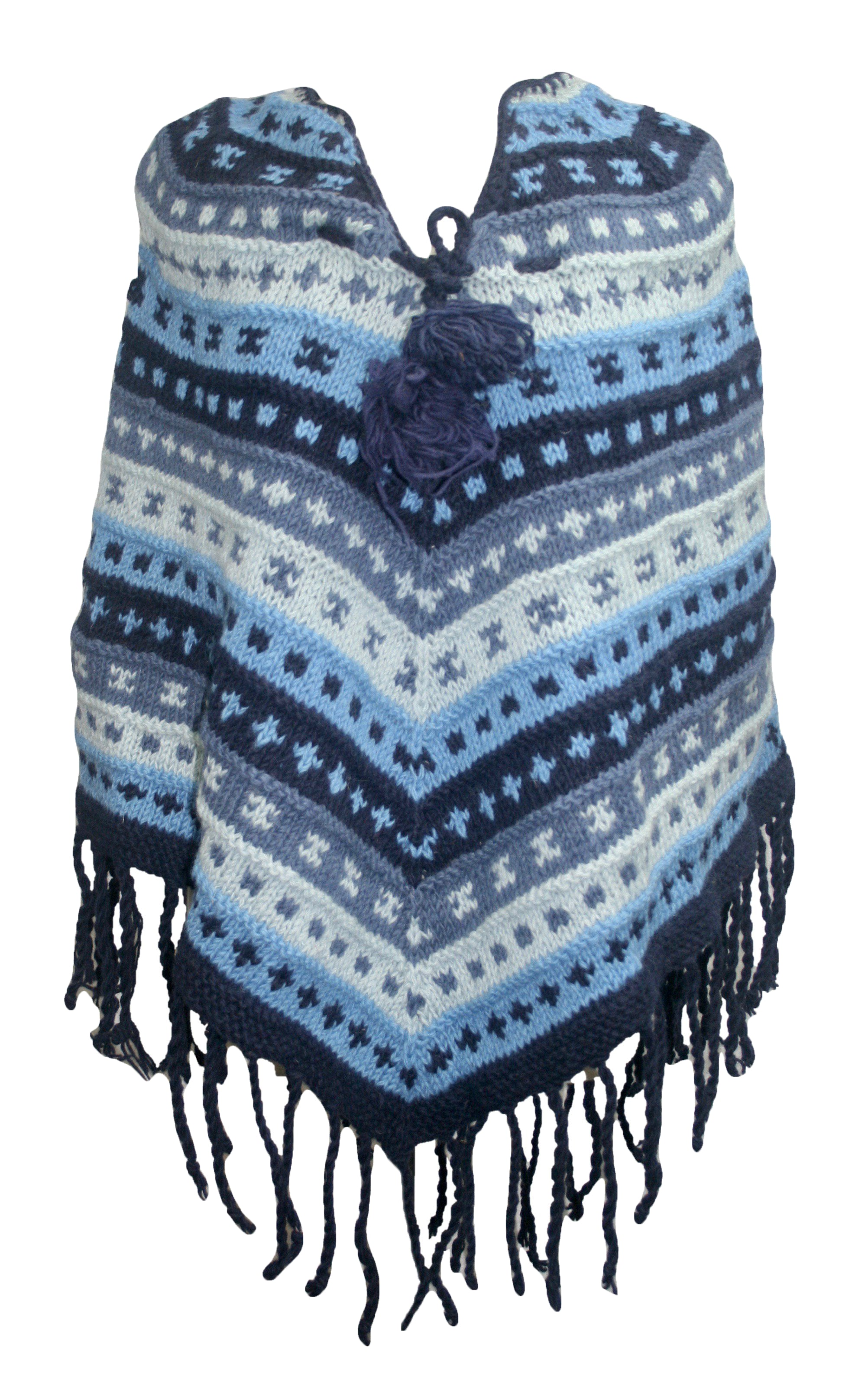 PN 200 Himalayan Thick Sheep Wool Hand Knitted Poncho - Agan Traders, PN 200 12